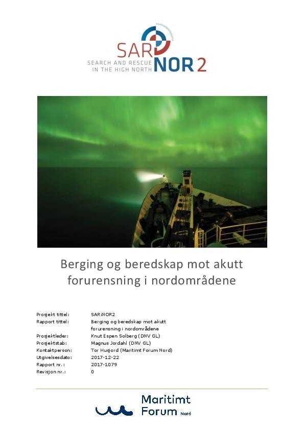Rapport og handlingsplan fra SARiNOR2 er ferdigstilt