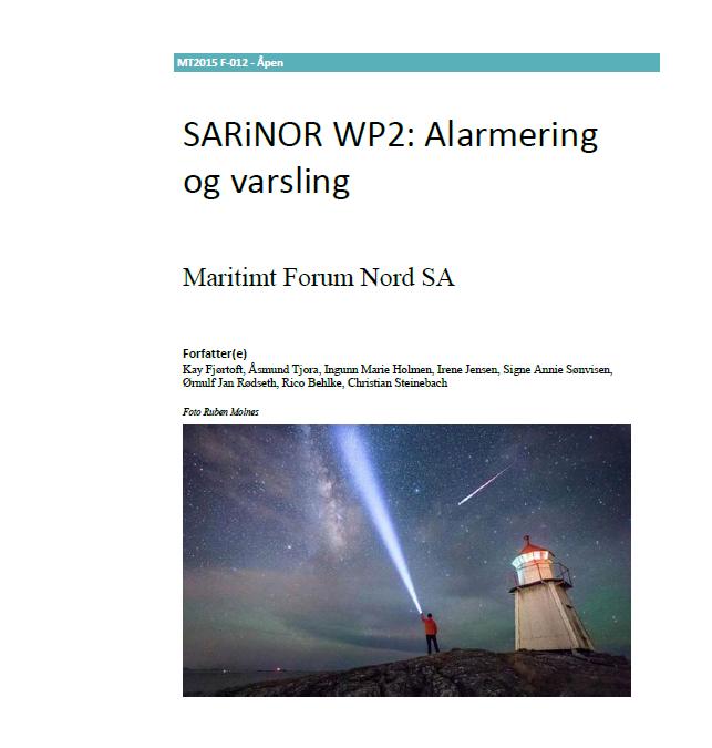 SARiNOR arbeidspakke 2: Alarmering og varsling